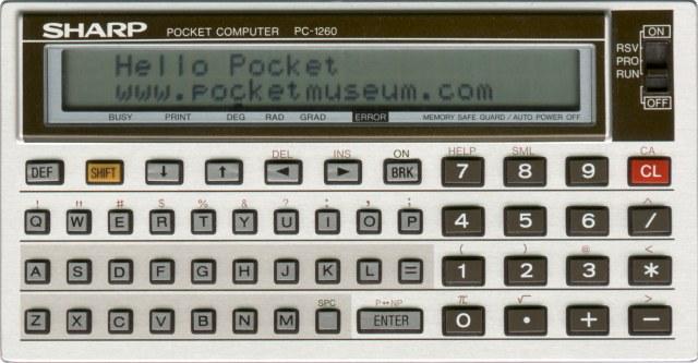 The Sharp PC-1260 computer